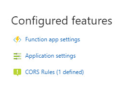 CORS and Azure Functions